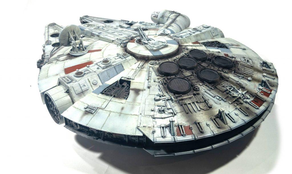 Millennium falcon, rear left view