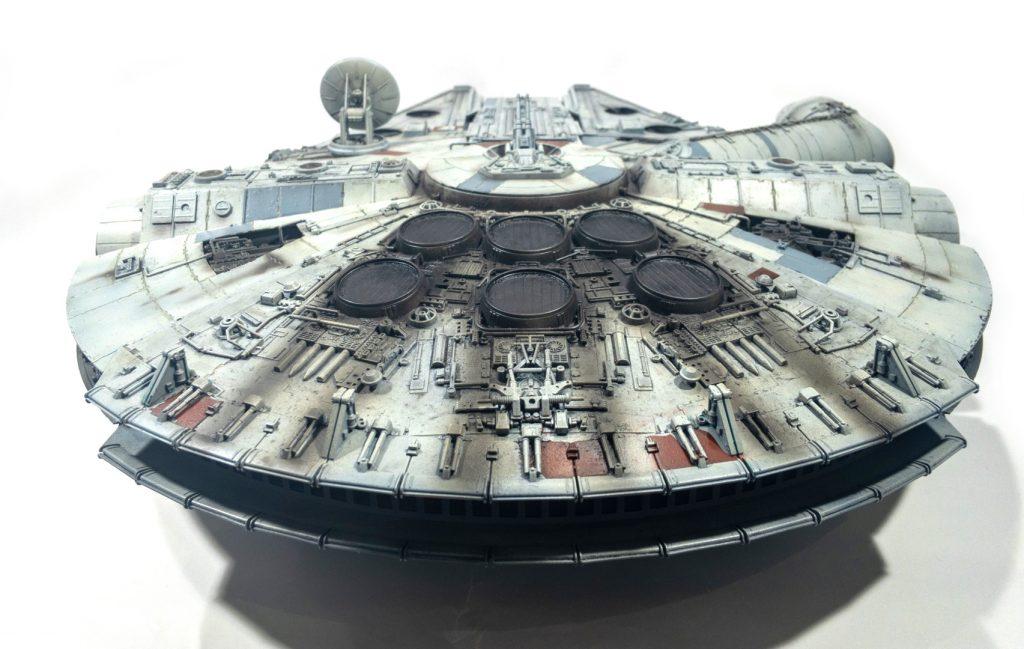 Millennium falcon, rear view