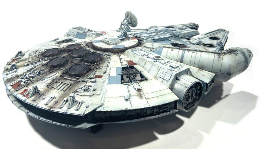 Millennium falcon, rear right view