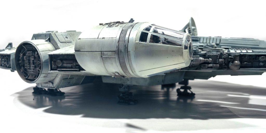Millennium falcon, right detail view