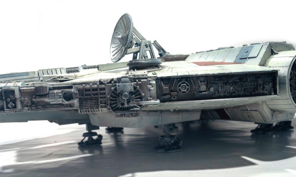 Millennium falcon, left detail view