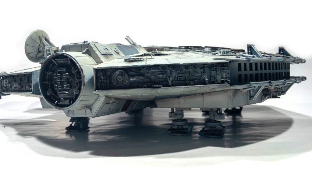 Millennium falcon, rear detail view