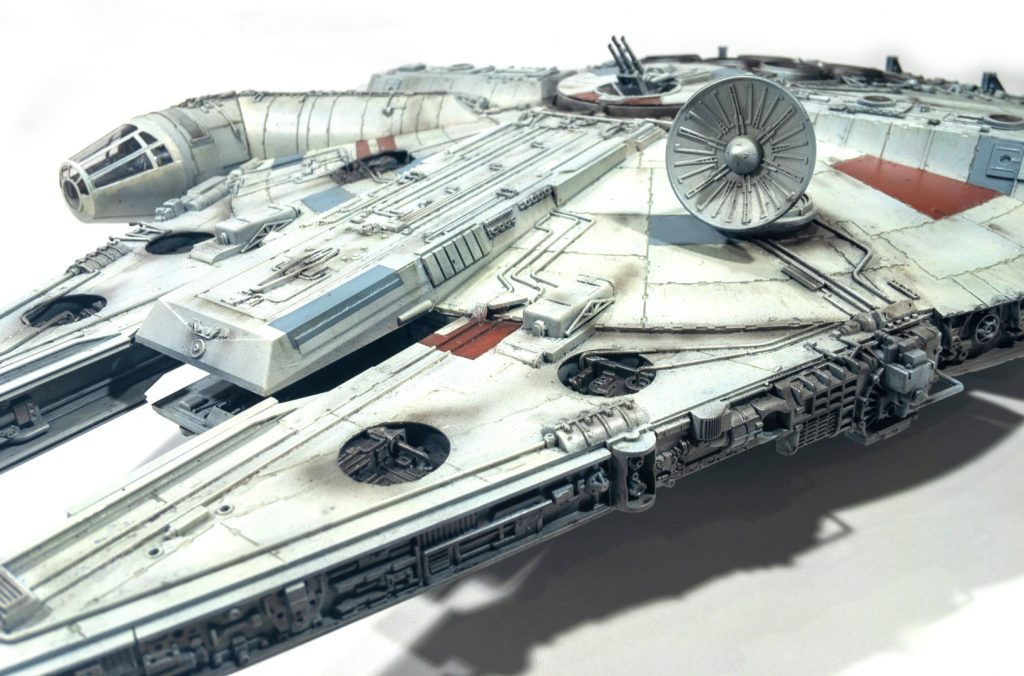 Millennium falcon, Front left view, zoomed in