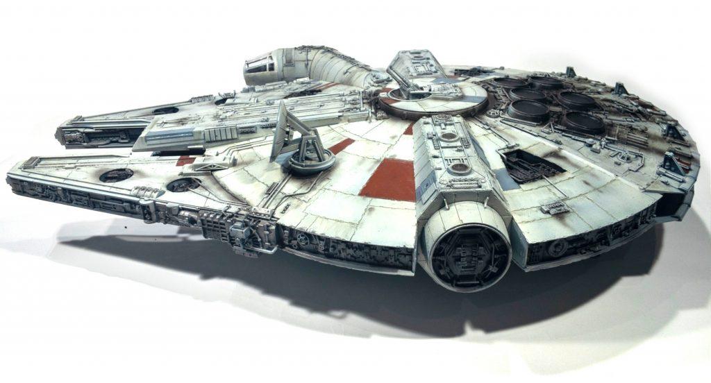 Millennium falcon, left view