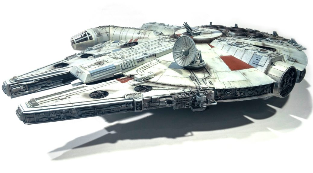 Millennium falcon, front left view